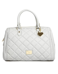 Marc B Melanie Large Bowler Bag With Douple Zip Grey