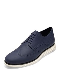 Cole Haan Original Grand Leather Wing Tip Oxfords Blue