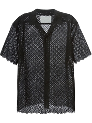 Kolor Short Sleeve Lace Shirt Black