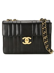 Chanel Vintage Quilted Shoulder Bag Black