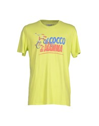Cooperativa Pescatori Posillipo Topwear T Shirts Men Acid Green