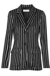 Paul And Joe Eorchestre Pinstriped Stretch Twill Blazer Black