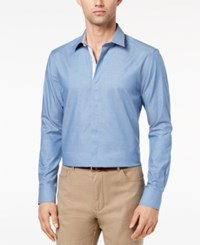Ryan Seacrest Distinction Men's Slim Fit Chambray Shirt Created For Macy's Blue Chambray