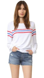 Wildfox Couture U.S. Gladiator Baggy Beach Sweatshirt Clean White