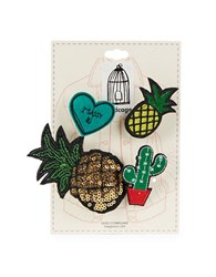 Page D Four Piece Pineapple Patch Pin Set Multi