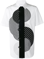 Ganryu Comme Des Garcons Central Circle Print Shirt White