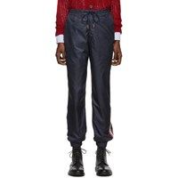 Thom Browne Navy Stripe Ripstop Track Pants