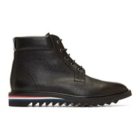 Thom Browne Black Cropped Blucher Lace Up Boots