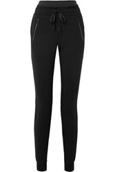 Alo Yoga Uptown Stretch Modal And Cotton Blend Jersey Track Pants Black
