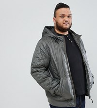 Ringspun Plus Quilted Hooded Jacket Grey