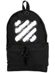 Off White 'Diag Spray' Backpack Black