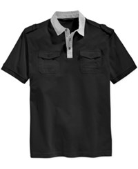 Sean John Men's Big And Tall Islander Polo Shirt Black