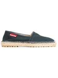 Dsquared2 Embroidered Anchor Espadrilles Blue