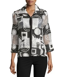 Berek Circle N Square Printed Blouse Black