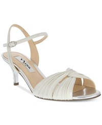 Nina Camille Two Piece Mid Heel Evening Sandals Women's Shoes