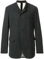 Forme D'expression The Md Blazer Cotton Linen Flax Polyamide Wool Grey