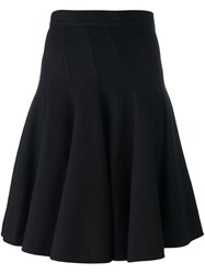 Ermanno Scervino Midi Pleated Skirt Black