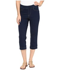 Fdj French Dressing Jeans Comfy Denim Wonderwaist Pull On Capris In Indigo Indigo Women's Blue