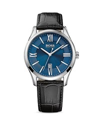 Hugo Boss Ambassador Watch 43Mm Blue Black