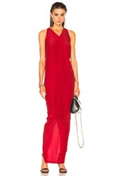 Rick Owens Moody Tank Gown In Red