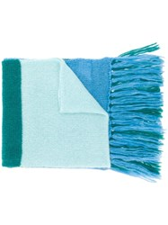 Semicouture Oversized Scarf Blue