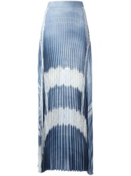 Ermanno Scervino Lace Inserts Pleated Skirt Blue