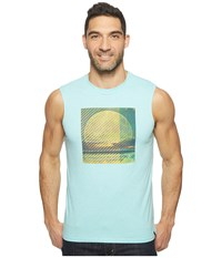 Prana Full Moon Sleeveless Tee Surf Blue Men's Sleeveless