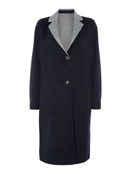 Tommy Hilfiger Giselle Reversible Wool Coat Navy