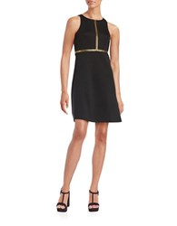 Jessica Simpson Embellished Sleeveless Dress Black