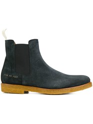 Common Projects Waxed Chelsea Boots Blue