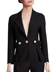Escada Button Detail Belted Wool Jacket Black