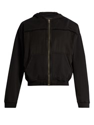 Haider Ackermann Perth Hooded Zip Through Cotton Sweatshirt Black