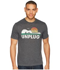 Life Is Good Unplug Camp Guitar Cool Tee Night Black T Shirt