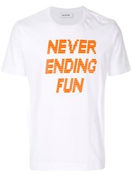 Tim Coppens Never Ending Fun T Shirt Cotton Polyester M White