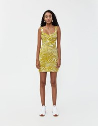 Which We Want Athena Printed Dress Lime