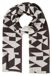 Your Turn Scarf Black Grey