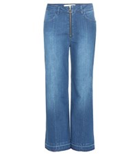 By Malene Birger Lesatian Wide Leg Cropped Jeans Blue