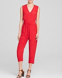 Tracy Reese Jumpsuit Sleeveless Blouson Belted