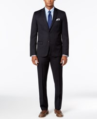 Tommy Hilfiger Men's Slim Fit Performance Stretch Dark Navy Solid Suit