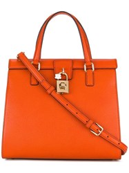 Dolce And Gabbana Tote Yellow Orange