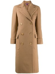 Ralph Lauren Collection Classic Double Breasted Coat Brown