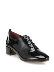 Marc Jacobs Betty Patent Leather Lace Up Oxfords Black