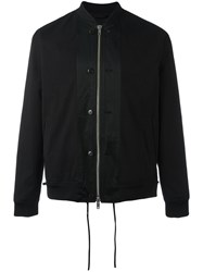 3.1 Phillip Lim Zipped Bomber Jacket Black