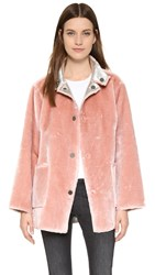 Opening Ceremony Faux Fur Reversible Coat Dusty Pink