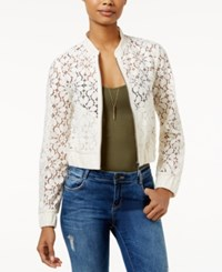 American Rag Floral Lace Bomber Jacket Only At Macy's Egret