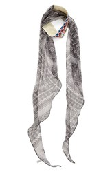 Bcbgeneration Women's 'Mosaic Me' Embroidered Scarf Black White