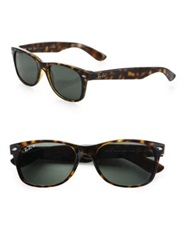 Ray Ban New Wayfarer Sunglasses Tortoise Polarized