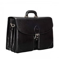 Maxwell Scott Bags Mens Large Black Briefcase