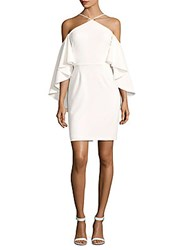 Alexia Admor Solid Ruffled Sleeve Dress White