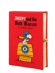 Olympia Le Tan Snoopy Red Baron Embroidered Book Clutch